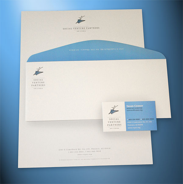 Social Venture Partners Stationery Design