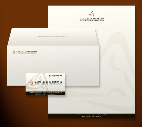 Camelback Mountain Sports Medicine and Rehabilitation Stationery Design