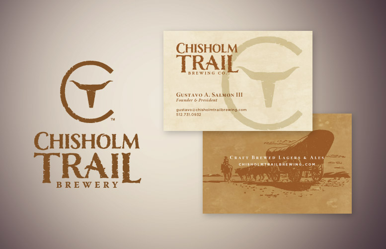 Chisholm Trail Brewery logo design