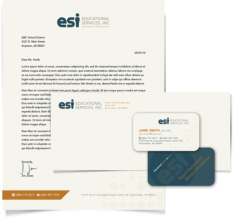 Educational Services stationery design Arizona