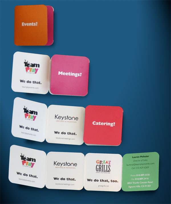 Team Play Events Business Card Design