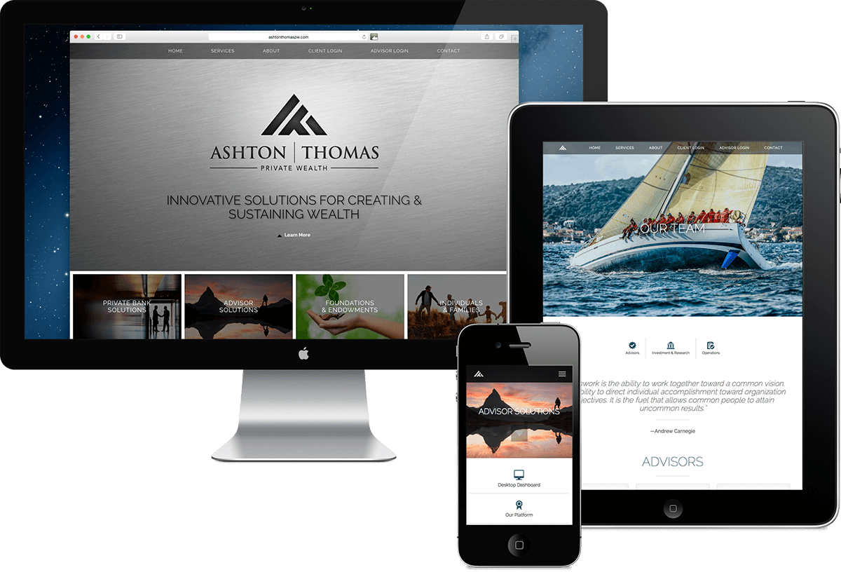 Ashton Thomas Private Wealth website design, Scottsdale, Arizona