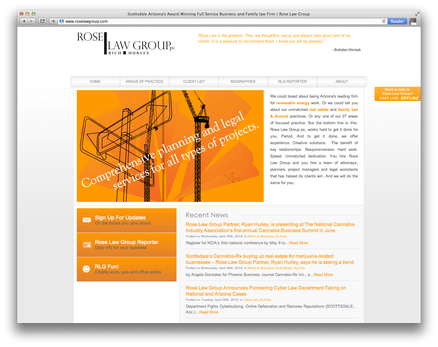 Rose Law Group Website Design