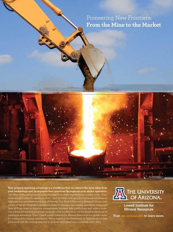 University of Arizona Lowell Institute of Mineral Research Advertising Design