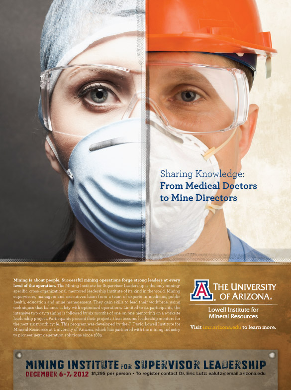 University of Arizona Lowell Institute of Mineral Research Ad Design